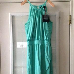 Cynthia Rowley Green Halter Dress Size L NWT